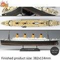 Nova academia 14214 colorido de 1/700 de RMS Titanic modelo navio de brinquedo