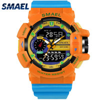 Casual Sport Watch Men Digital Quartz Watch 50M Wateproof S Shock Clock Men LED Fashion Watch
