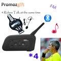 2016 V4 4 Da Bicicleta Da Bicicleta Da Equitação do Futebol do futebol Árbitro Interfone Intercomunicador fone de Ouvido Bluetooth Walkie Talkie BT Interfone