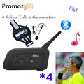 2016 V4 4 Soccer Football Bike Bicycle Riding Referee Intercom Bluetooth Headset Walkie Talkie BT Interphone Intercomunicador