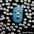 Nrs8 1000 unids/lote plata 4 mm hexagonal de Metal espárragos decoración arte Metal 3D etiqueta engomada del clavo del teléfono celular DIY accesorios