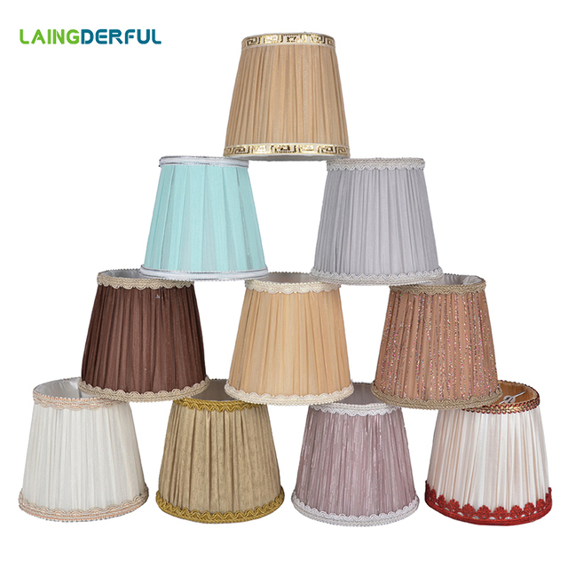 Modern Cloth Nordic Style Crystal Candle Chandelier Lamp Shade Lampshade for Bar Home Decoration Lamp Cover