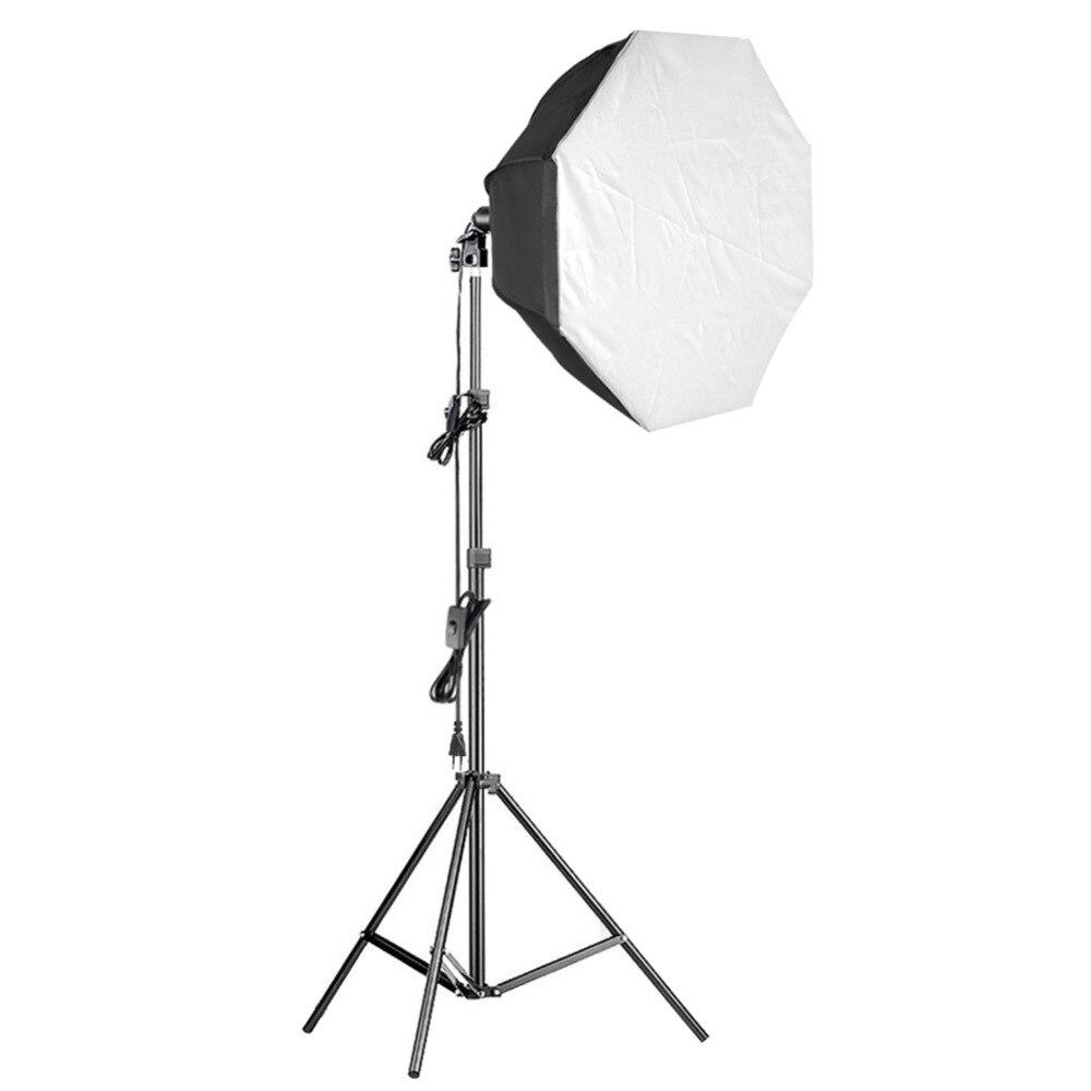 Neewer 31.5 pouces Pro octogone vidéo Studio continu Softbox Kit d'éclairage avec support solide/85 W ampoule/E27 Socket/diffuseur blanc