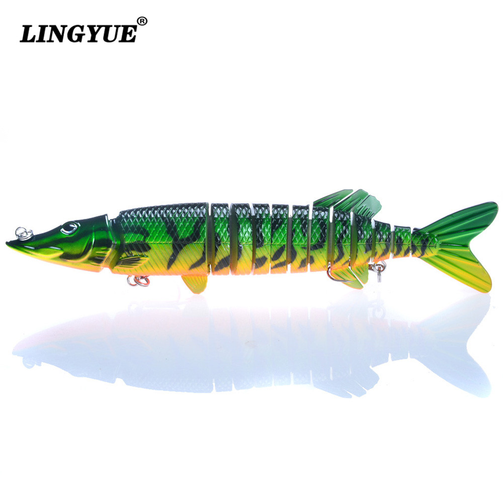 New Arrival 1pc 13 Sections pike Multi Jointed Fishing Lure 30cm/190g Swim-bait Fishing bait 4/0# Black Hook Fishing Tackle Lure циркуль new 1 1 30 1cm 30cm
