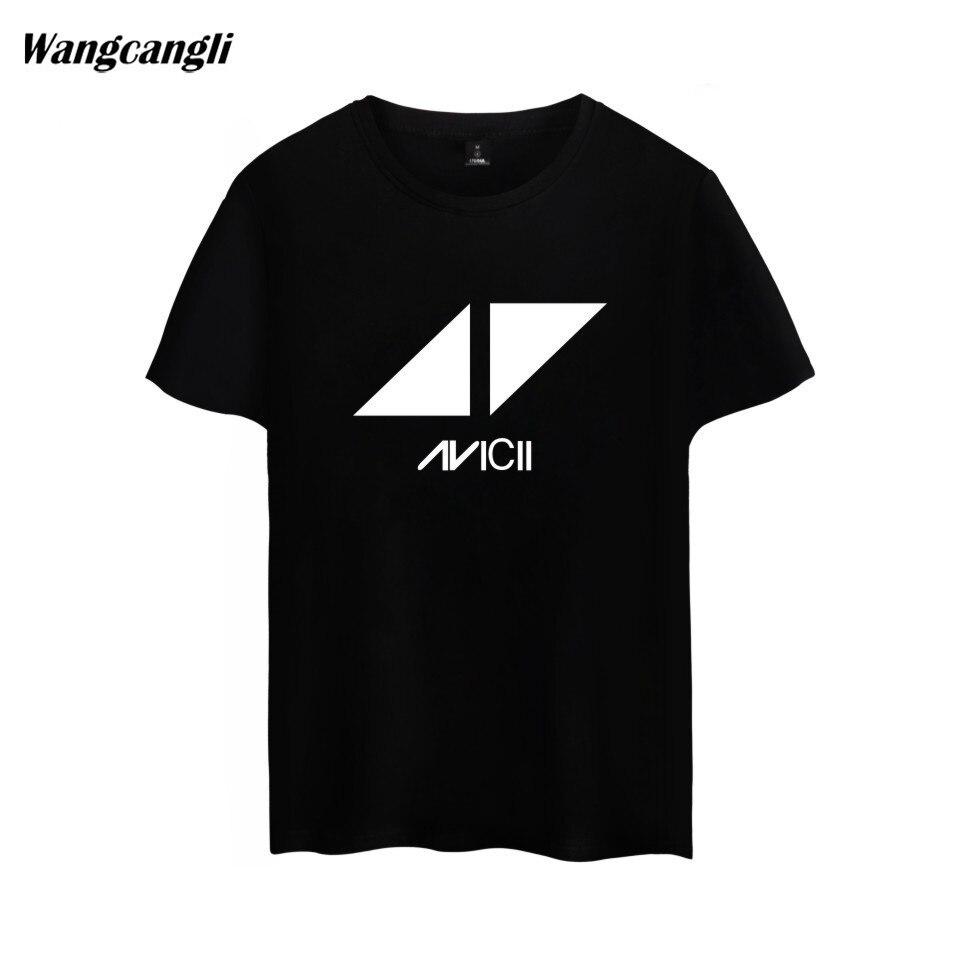 2018 Avicii DJ Logo Summer T-shirt Men Cotton Short Sleeve Print Fans Club Casual Hip Hop T Shirt Homme KPOP Men Tshirt Tops