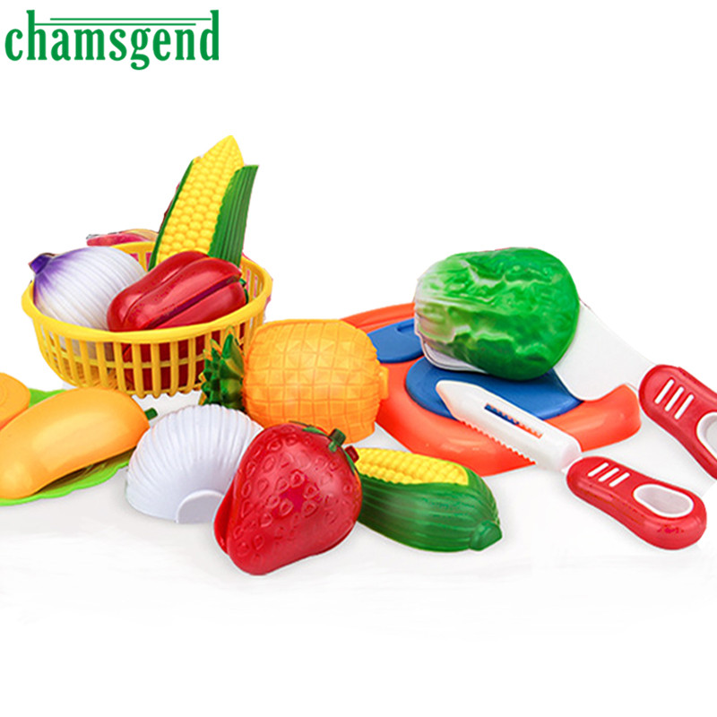 12PC Cutting Fruit Vegetable Pretend Play Children Kid Educational Toy L421