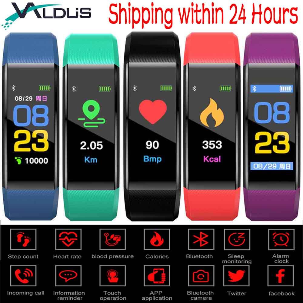 Valdus 115 PLUS Sport Smart Band Bracelets Bluetooth Fitness Tracker Moniteur de Pression Artérielle Coeur Taux Smartband Bracelet