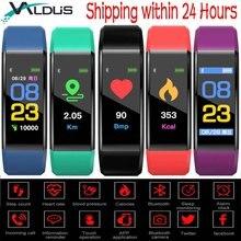 Валдас 115 плюс Спорт Smart Band Напульсники Bluetooth Фитнес трекер крови Давление монитор сердечного ритма Smartband браслет