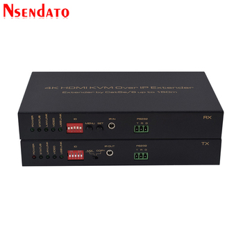 4K HDMI KVM Extender Over IP Up to 150M 500ft Cat5e/Cat6 For 1080P Mouse keyboard Ethernet IR Network HDMI Transmitter Receiver