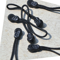 ZIPPER PULLS 2 2 Inch Color Black Package Of 12 Anti Slip Design For Coat Backpack