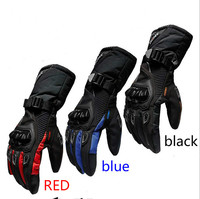 2017 Free Shipping Winter Warm Waterproof Motorcycle Gloves Outdoor Riding Long Section Gloves Men Gloves