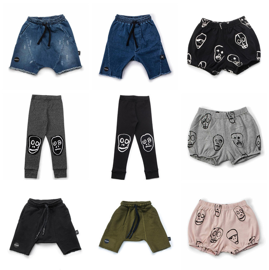NUNUNU Boys Denim Shorts 2018 Summer Beach Short Pants Skull Mask Yoga Shorts Kids Girls ...