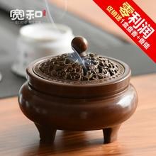 Antique incense burner copper wax brass Large mini three-legged