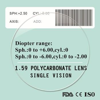 1.59抗ブルーレイ近視老眼処方ポリカーボネートレンズアンチscrach uv400保護品質薄いpcメガネレンズ