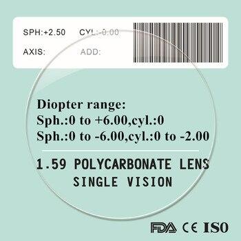 1.59 anti blue ray miyopi presbiyopi reçete polikarbonat lensler anti scratch uv400 koruma kalitesi ince PC gözlük lens