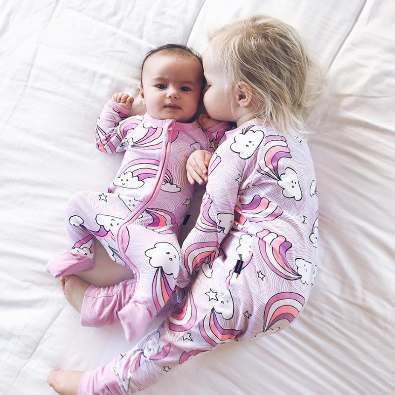 TinyPeople Rare Floral Lovely Printed Long Sleeve Baby Boy Girl Clothes 100% Cotton Jumpsuit Baby Romper Newborn Daddy girl gift
