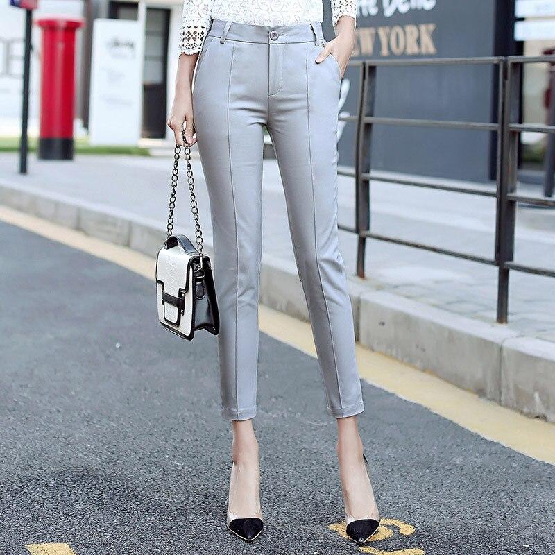 Spring autumn Fashion Lady Slim Pencil Pants Black Size S-3XL Top Design Elegant Office Women Work Trouser Casual harem pants