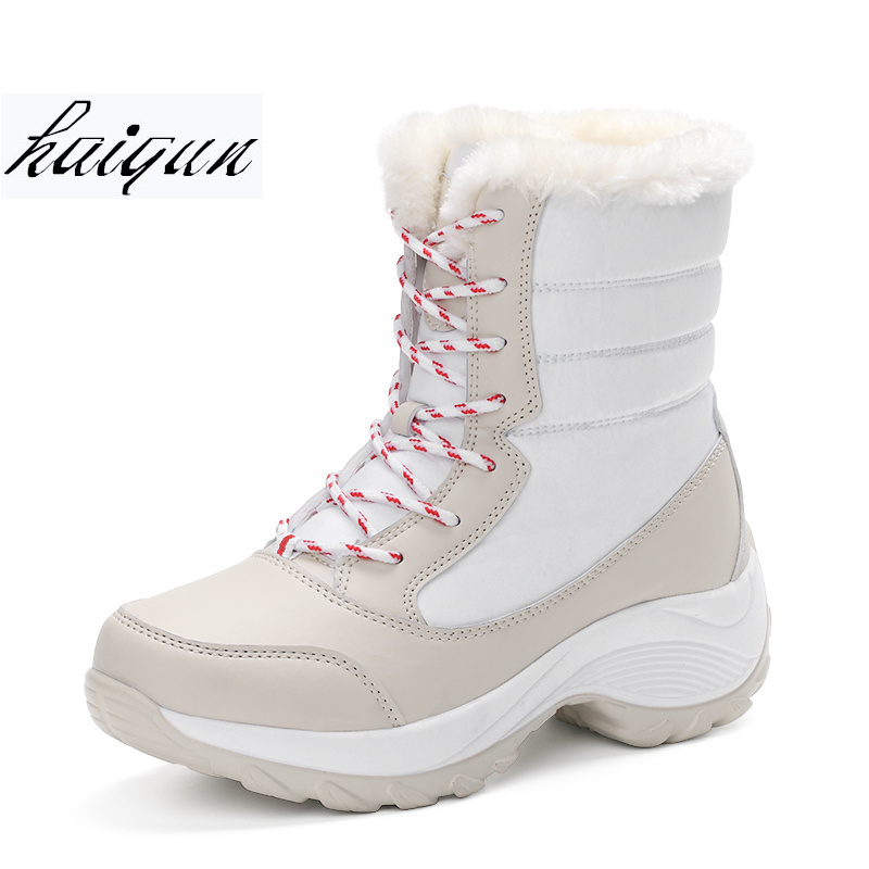 2018 Woman Boots Winter Women Snow Boots Winter Women Keep Warm Shoes Autumn Female Mid-Calf Platform Boots size 35-41 цена