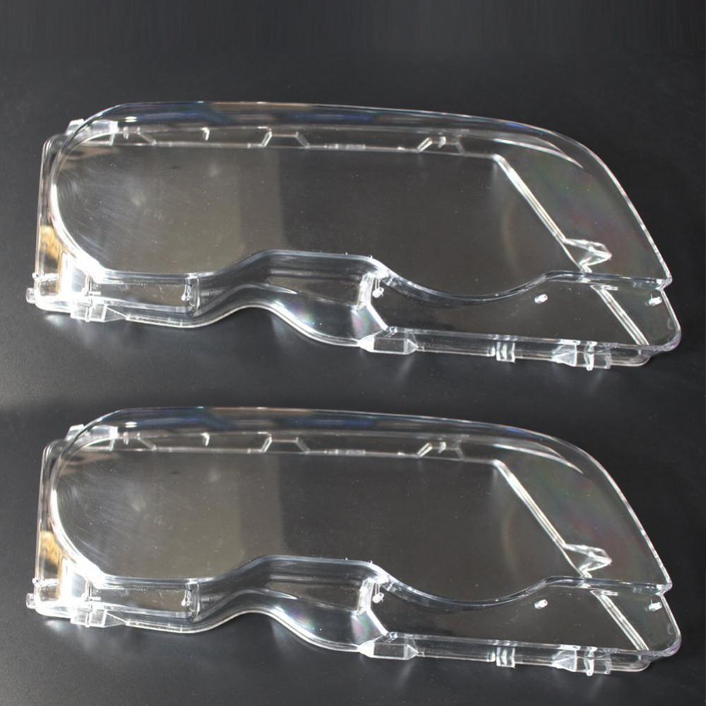 Car Headlight Glass Cover Clear 4 Door Automobile Left Right Headlamp Head Light Lens Covers Styling for BMW E46 01 06