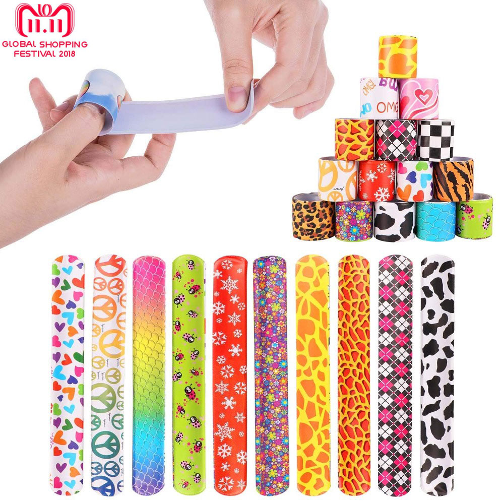Funny Slap Bracelets Ruler Toy Buy Five Get One Free Colorful Wrist Strap Wristband for Kids Birthday Holiday Beach Party image