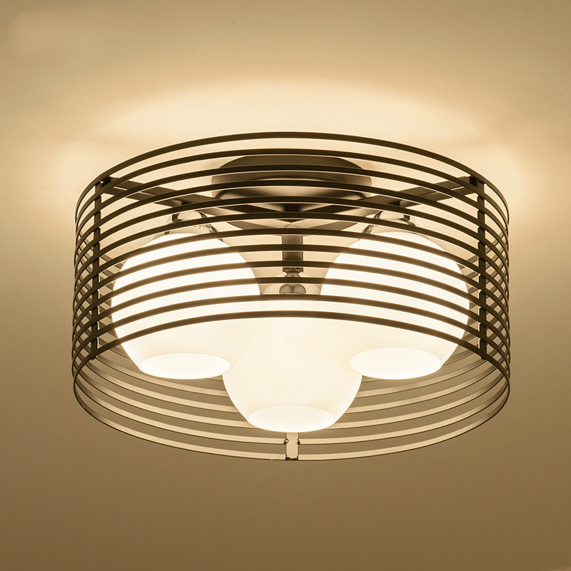 Bedroom lamp round led glass ceiling lamp, Nordic dining room lamp, European style modern minimalist creative lampBedroom lamp round led glass ceiling lamp, Nordic dining room lamp, European style modern minimalist creative lamp