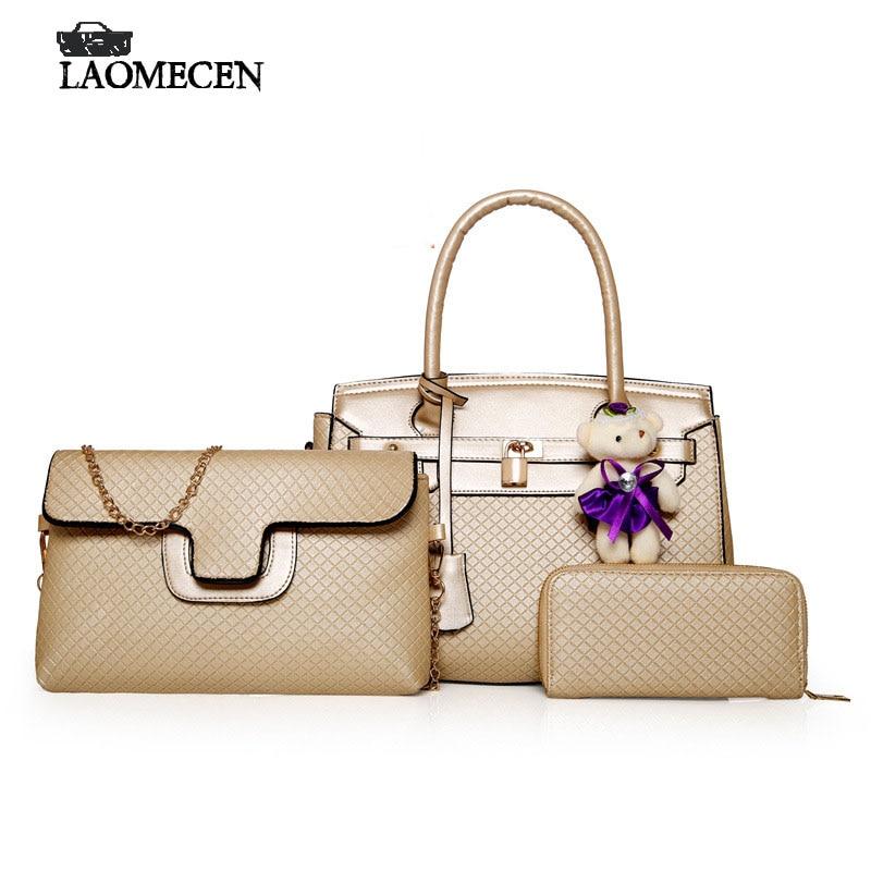 Hot Top Handle Bags Luxury French Composite Designer Bear Handbags Leather Crossbody Woman Bag