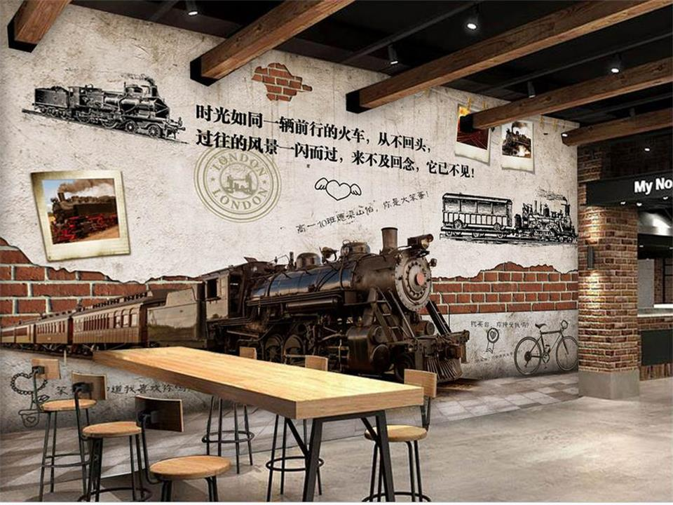 custom 3d photo wallpaper mural bed room youth bar restaurant background wall painting sofa TV background non-woven wall sticker free shipping 3d retro motorcycle wallpaper leisure bar ktv cafe restaurant tv sofa background armor rider brick wallpaper mural