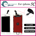 10PCS/LOT AAA Quality No Dead Pixel Screen For iPhone 5C LCD Display Touch Screen Digitizer Assembly Replacement Black
