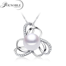 Charms Pearl Pendant Necklace For Women,white 925 Sterling Silver Pendant Necklace girl birthday gift u7 100% 925 sterling silver 3d little angel necklace for girl women birthday gift dainty jewelry silver 925 chain