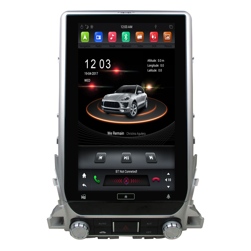 6 Core PX6 Android 8.1 Tesla style 13.3 Car Radio DVD GPS for Toyota Land Cruiser LC200 2018 BT 5.0 WIFI Easy Connect 4gb+32gb