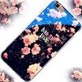 6 s más chic blue ray de impresión beso del amor del corazón estrellas caso de shell para apple iphone 5 5s se 6 6 s 6 más 6 s más clara de la contraportada del teléfono