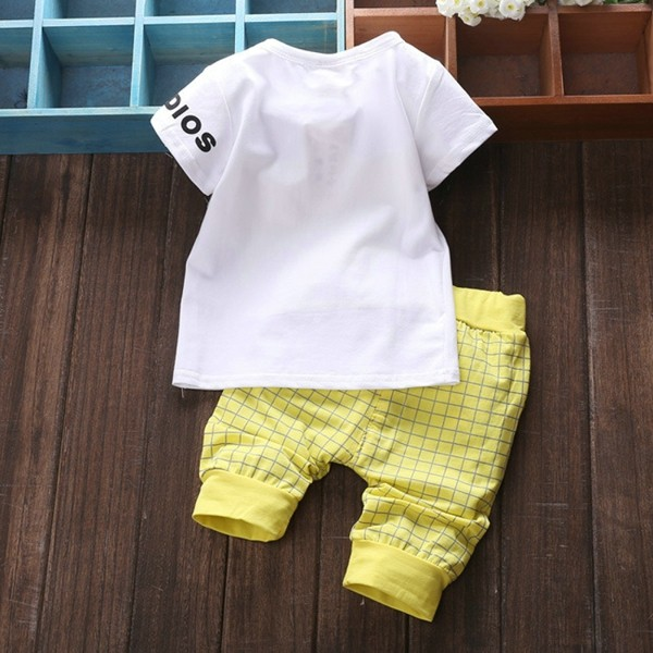 Baby Kids Boys Girls Clothing Sets 4 Colors Casual Style Stars Printing Clothes Kids Clothes 05