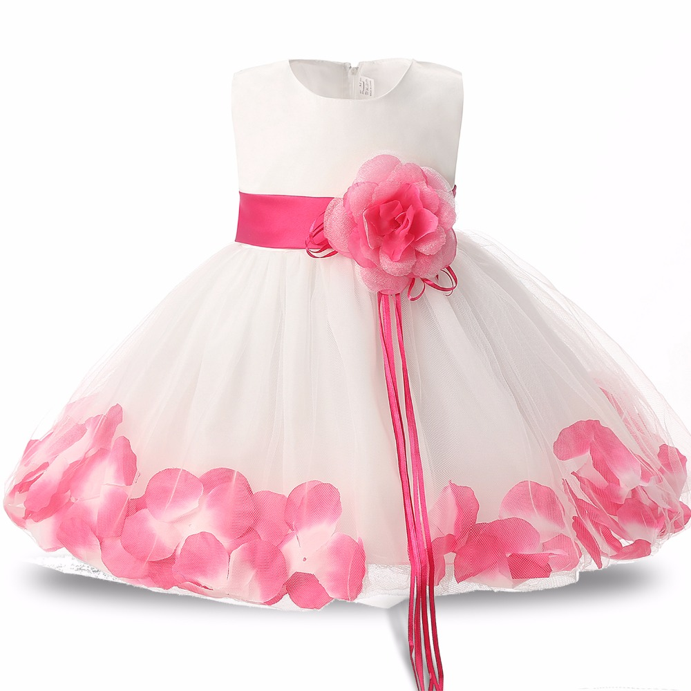 Floral pattern bridesmaid dresses reviews online shopping floral new petal pattern first birthday baby clothes dress for party christening tulle baby vestido clothes wedding bridesmaid dresses ombrellifo Image collections