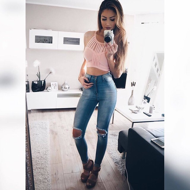 Free Shipping Woman's Fashion 2016 Summer Tops Nude Bandage Crop Top Pink White Black 4 Colors Available