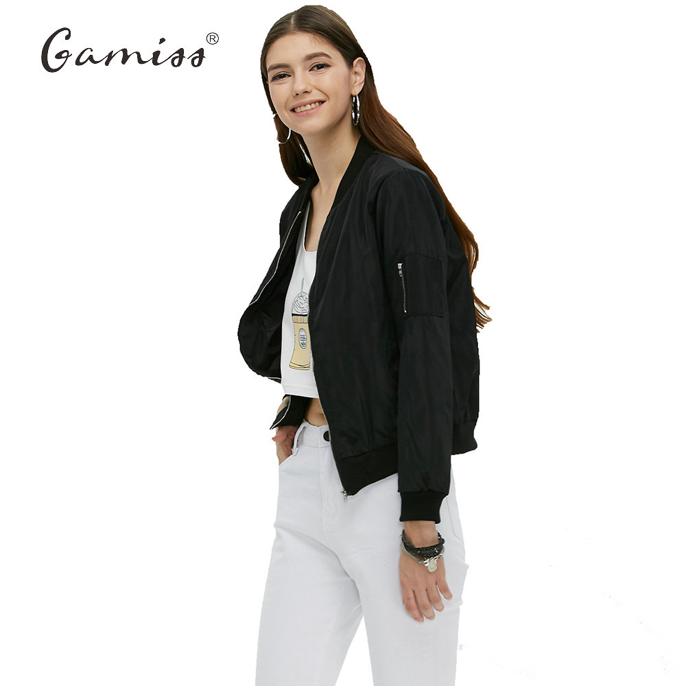 Online Get Cheap Short Zipper Bomber Jacket Woman -Aliexpress.com ...