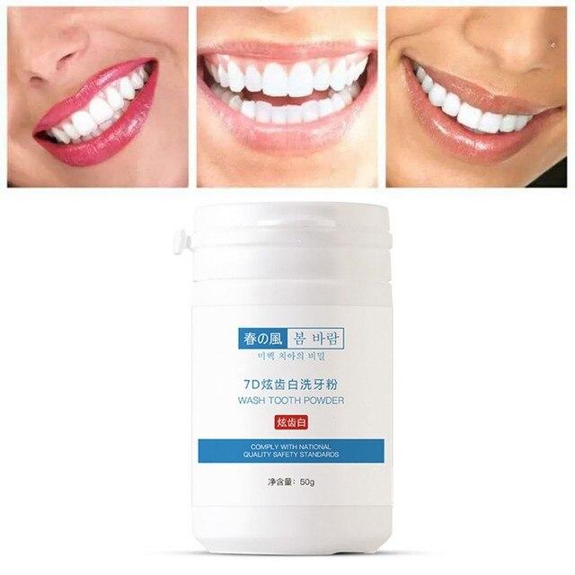 50g fresco deslumbran dientes Brighten higiene bucal limpieza herramientas placa Tartar manchas removedor suave blanqueamiento polvo
