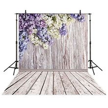 3x5ft Vinyl Photography backdrop floral petal with wooden wall colorful flowers background photo studio booth