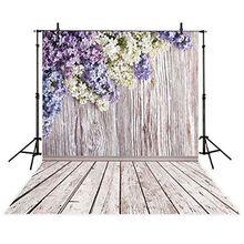 3x5ft الفينيل التصوير خلفية الأزهار البتلة مع جدار خشبي الزهور الملونة خلفية صور استوديو كشك