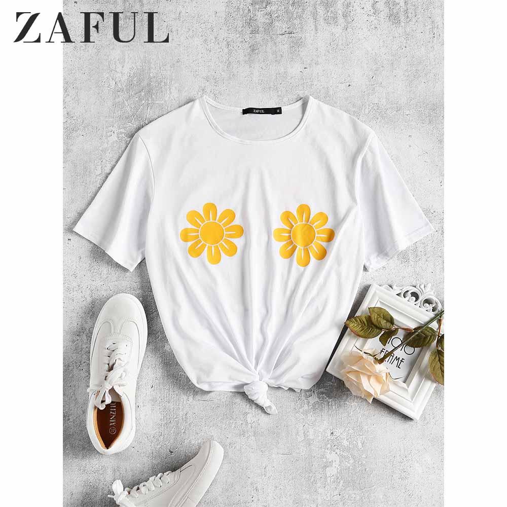 Womens Tops Womens Fashion T Shirt Sunflower Printed T Shirt Tops Short Sleeve Round Neck Tops Summer Casual