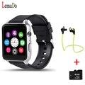Lemado gt88 bluetooth smartwatch relógio de pulso monitor de freqüência cardíaca telefone sim suporte cartão tf para apple ios android os telefone