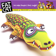 Fat cat cartoon crocodile pet dog Bite toy dourable big large dog chew toy dog puppy canvas Sound squeakers squeaky Toy safety