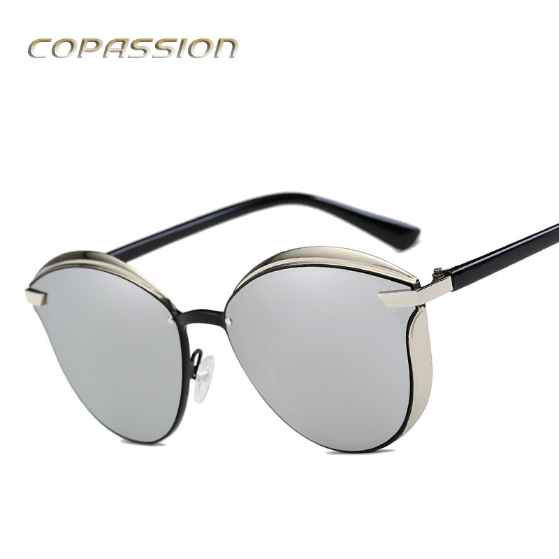 Fashion polarized sunglasses Women 2017 New Arrival Alloy Frame flat Cat Eye Sun glasses uv400 Eyewear oculos de sol feminino