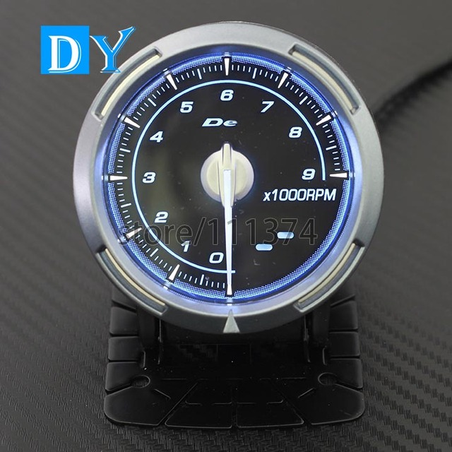 High Quality 2.5 INCH 60MM DY Universal RPM Speedometer Gauge with Blue  Light racing car Tachometers Meter