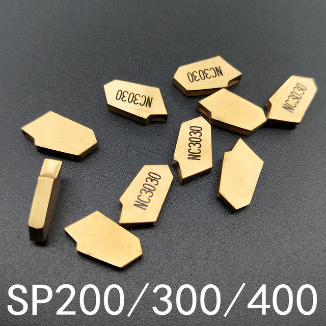 10 pcs SP200/SP300/SP400 NC3030 torno ferramentas de corte definido com pastilha de Metal Duro pastilhas de fresamento & Ferramenta de tornear ferramentas CNC ferramentas de corte