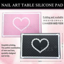 1 Pcs Soft Nail Art Hand Holder Cushion Table Silicone Pad Nail Manicure Pink Black 2 Color Available Feels Soft and Comfortable