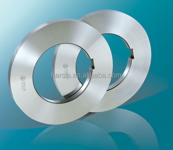 Stainless steel strip slitting blade/rotary slitting knife china professional high speed slitting blade knife holder and supporter