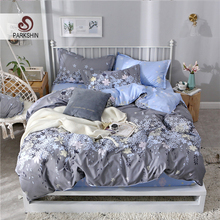 ParkShin Elastic Rubber Sheet Bedding Set Fitted Sheet Flower Pattern Adult Bed Lining Euro Nordic Single Double Duvet Cover Set стоимость