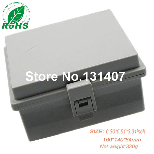 Made in chian ip65 hinged plastic waterproof enclosure for switch electrical junction box 160*140*84mm 6.30*5.51*3.31inch 200 120 75mm size surface mounted waterproof sealed plastic electrical enclosure switch junction box