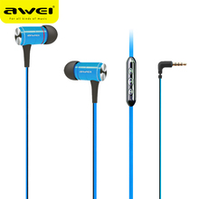 Awei S2vi In-ear Stereo Earphone Metal Extra Bass Power with Headset Microphone for Sports calls music free Original Box