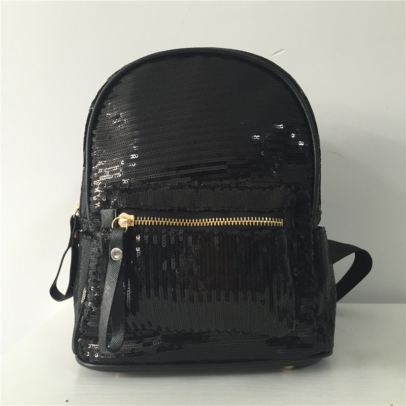 Shine Women Fashion Sequins Backpack Girls Paillette School Bag BookBag Travel Bling Mochila Feminina Black White Shoulder Bags